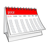 Illustration of Isolated Cartoon Calender.