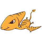 Cartoon of Baby Pterodactyl Dinosaur.