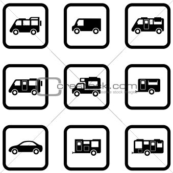 camper cars set
