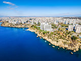Aerial photograph of Antalya bay