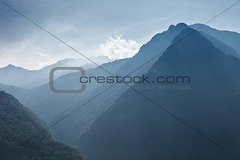Beautiful blue mountains of Austria