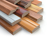 Samples of wooden furniture MDF profiles, Different medium densi