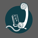 The tube is on the phone icon