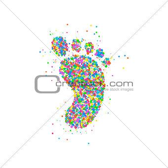 foot icon circles