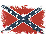 Threadbare flags of the Confederate States of America