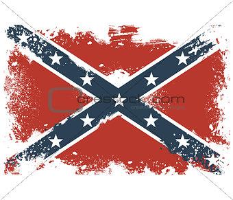 Threadbare flags of the Confederate States of America