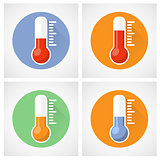 Thermometer icon with scale