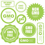 GMO free stamps, stickers and labels
