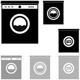 Black and grey washer on the white background.