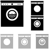 Grey and black washer on the white background.