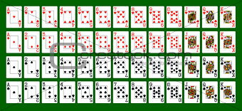 A deck of playing card