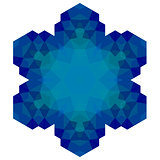 Polygonal Blue Symbol