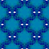 Blue Seamless Polygonal Pattern