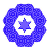 Blue David Star Jewish Symbol of Religion