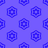 Seamless Blue Geometric David Star Background