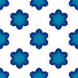Seamless Blue Snowflake Pattern