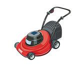 Lawn mower. Garden tool.