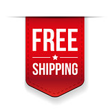 Free Shipping ribbon red vector