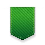 Empty green ribbon vector isolated