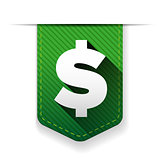 Dollar Sign Green Vector Icon ribbon