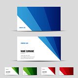 Modern business card template set