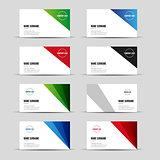 Modern business card template set