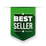 Best Seller green ribbon vector