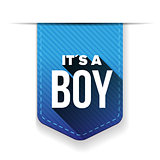 it's a boy, vector ribbon blue