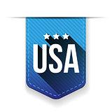 USA blue ribbon vector