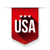 USA red ribbon vector