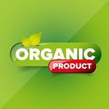 Organic Product button vector