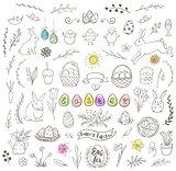 Set of Easter doodles
