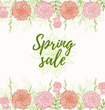 Background for spring sale