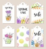 Spring sale tags