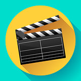 movie clapper board movie maker vector.