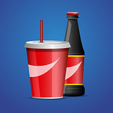 Bottle of cola soda. vector illustration