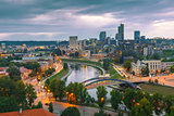 Panorama New Center of Vilnius, Lithuania