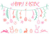 Easter banner, vector set
