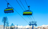 The cable car up to Rosa Khutor, Sochi, Russia.