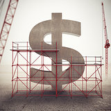 Strengthen american economy . 3D Rendering