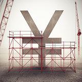 Strengthen yen economy . 3D Rendering