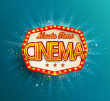 The vintage cinema emblem