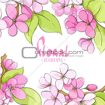 Bright floral template