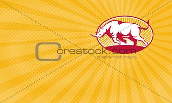 Charging Rhino Brewery Business card