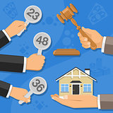 sale of real estate at auction