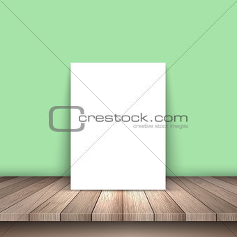 Blank picture on wooden table