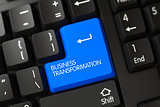 Keyboard with Blue Keypad - Business Transformation. 3D.