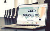 Video Marketing Concept on Laptop Screen. 3D.