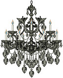 Baroque Black Chandelier