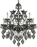 Baroque Black Chandelier